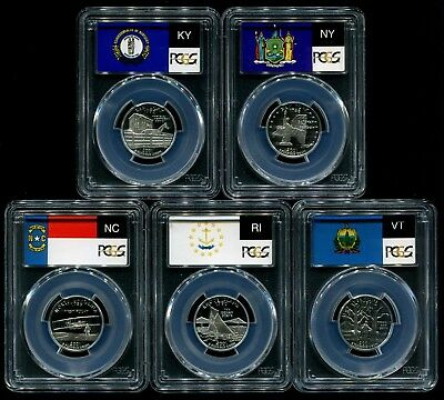 2001 S Silver State Quarter 5 Coin Proof Set PCGS PR69 DCAM 25C New Holders!