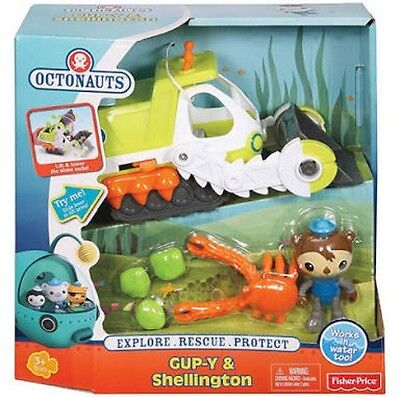 Octonauts Gup Y Shellington B D X Vehicle Fisher Price Birthday Toy Boy Girl NEW