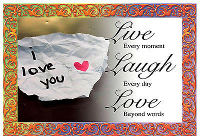 love you INSPIRATIONAL MOTIVATIONAL QUOTE WALL POSTER PRINT #33 A3