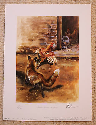 """Mick Cawston Limited Edition Signed Print  """"fortune Favours The Bold"""""""