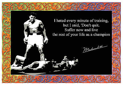 Mohammed Ali INSPIRATIONAL MOTIVATIONAL QUOTE WALL POSTER PRINT #33