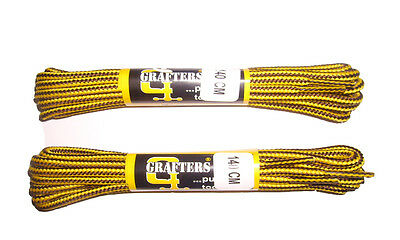 Strong Work/hiking Boot Laces 140Cm Yellow/brown - 2 Pairs - Grafters *free Post