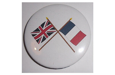 British and French crossed flags Fridge Magnet - Friendship/solidarity