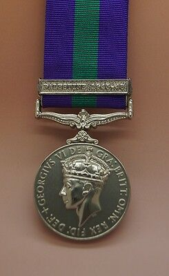 Full Size General Service Medal GSM with Palestine 1945-48 Clasp
