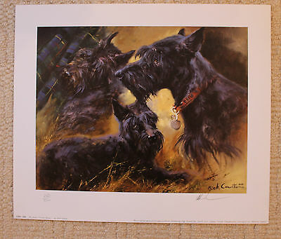 "Mick Cawston Signed Limited Edition Print  ""the Scottie"""