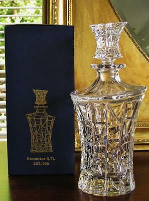 "Boxed Contemporary Bohemia crystal ""Cube"" spirit decanter. NEW"