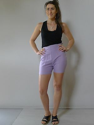 vintage retro true 60s 26 8 XS unused purple bermuda shorts NOS as new