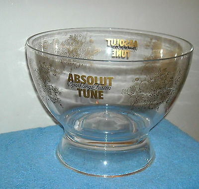 Rare Large Lucite Absolut Vodka Ice Bucket Made In Italy