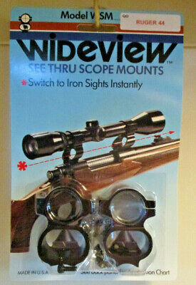 Thru 1996 WIDEVIEW SEE THRU SCOPE MOUNT for MOSSBERG 500A-600 #6 screw