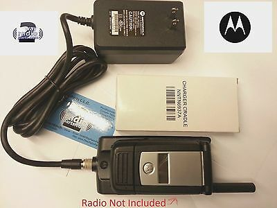 New NOS Motorola XTS4000 Covert Radio 120V AC Charger with Cradle OEM (UFH,VHF)