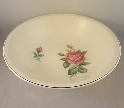 RED ROSE by PADEN CITY ROUND VEGETABLE SERVING BOWL Rose & Buds on Cream