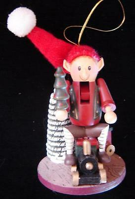 Zim's Heirloom Collectibles Ornament Elf On Train Nutcracker Jacobson's