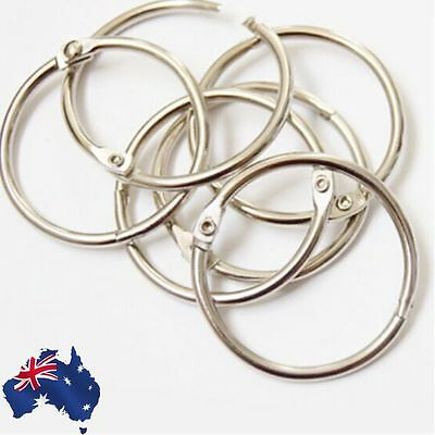 20pcs 50mm Metal Hinged Rings Binder Scrapbooking Split Buckles SRINS 0150x20