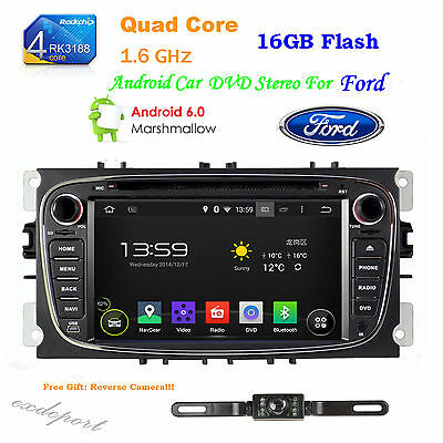 "7"" 2 Din Android 4.4 Car DVD GPS Navi BT For Ford Mondeo Focus S-Max 2007-2011"