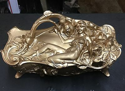 Large Ornate Antique Art Nouveau Lady Jewelry Box-Weidlich Brothers Mfg Co