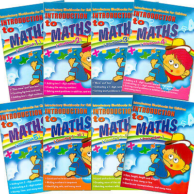 Introduction to Maths 8 Fun Learning Activity Workbooks Young Kids Learn & Write