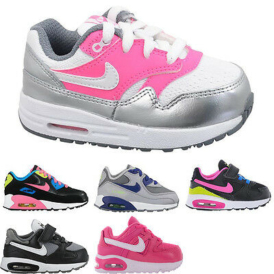 New Kids Baby Infant Boys Girls Nike Air Max TD Leather Trainers Shoes Sizes Uk