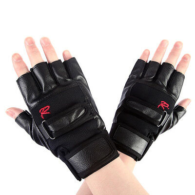 Multipurpose Man's Leather GYM Driving Motorcycle Biker Fingerless Sports Gloves