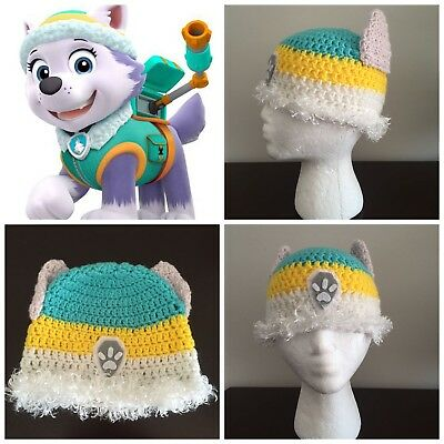 Paw Patrol Everest Beanie Hat Winter Warm White Girls Child Kids Outerwear