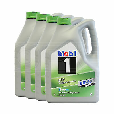 Mobil 1 ESP 5W-30 Fully Synthetic Engine Oil - 4 x 5 Litres 20L