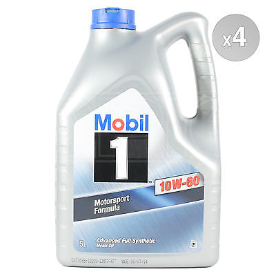 Mobil 1 10w-60 Advanced Full Synthetic Engine Oil - 4 x 5 Litres 20L