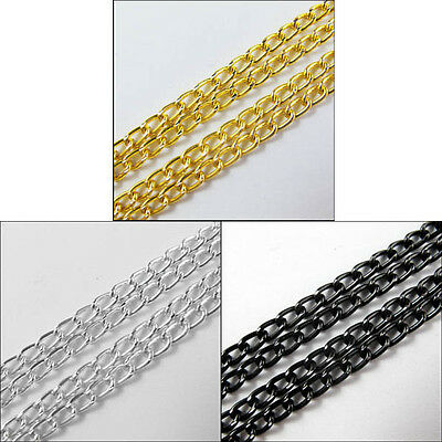 New Anodized Aluminum Chain Link Cord Chains 3mm Ring 10M