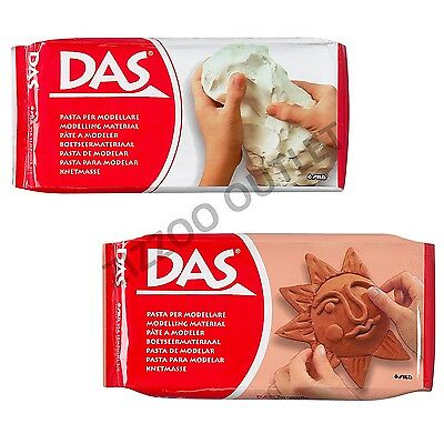 Das Modelling Clay - 500G & 1Kg Option - White Or Terracotta - Fast Shipping