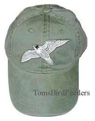 Peregrine Falcon Embroidered Cotton Cap NEW