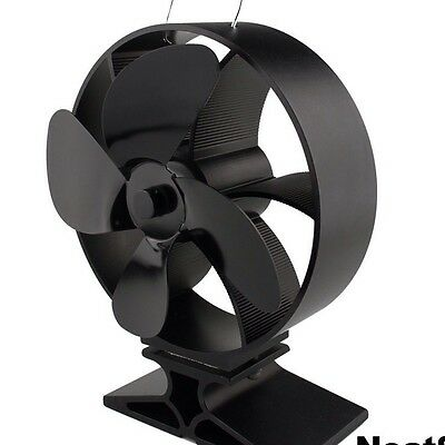 New 2018 EcoFlow Stove Fan / Italian Round Design / Heat Powered Log Burner Fan