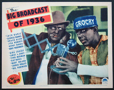 The Big Broadcast Of 1936 Amos And Andy Blackface 1935 Lobby Card
