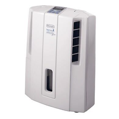 DeLonghi Compact 16L Dehumidifier with Digital Humidistat great for up to DES16E