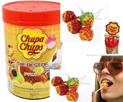 Bulk 100 x Chupa Chups Best Of Lollipops Assorted Flavours Party Lollies Sweets
