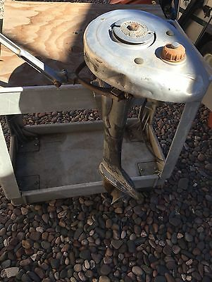 Rare Antique 30's EVINRUDE ELTO Small Outboard Boat Gas Motor Patented in 1935.