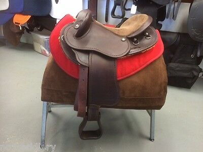 """Syd Hill Leather Half Breed Saddle 17"""" *NEW*"""