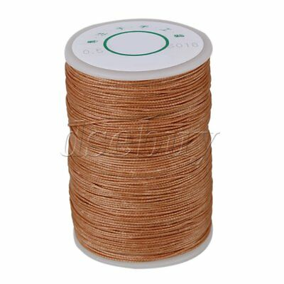 120M 0.5mm Waxed Polyester Round Twisted Cord String Light Brown Thread Line