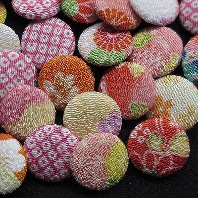 New Mix 20pcs Pink Fabric Cover Round Buttons 20mm Sewing Craft
