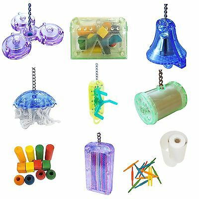 Happy Pet Parrot Toy Games Ringer Spinner Treasure Shred Winder Sea Stix Refill