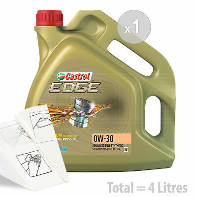 Car Engine Oil Service Kit / Pack 4 LITRES Castrol EDGE TITANIUM 0W-30 0W30 4L