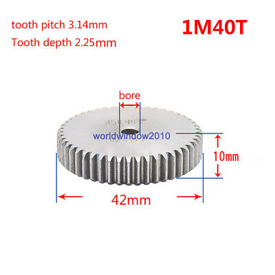 1 Mod 40T Spur Gears 45 Steel Gears  Tooth Diameter 42MM Thickness 10MM