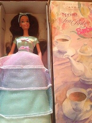 Barbie Mattel Spring Tea Party 1997 Avon New Special Edition In Box