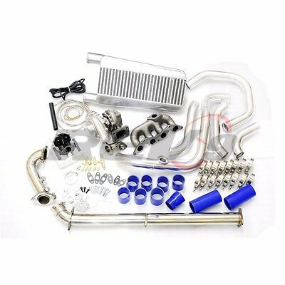 Rev9 01-05 Civic D17 T3 Direct Bolt On Complete Turbo Charger Kit Full 325Hp+