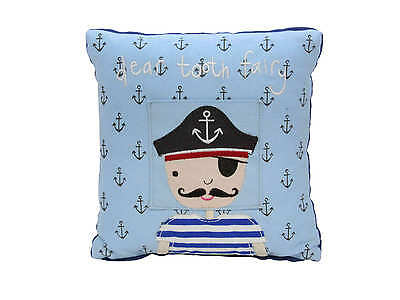 Gisela Graham Pirate Design Tooth Pocket Cushion Christening Gift New-Baby Gift