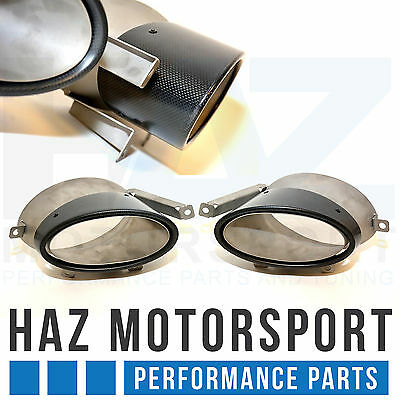 Audi R8 4.2 V8 / 5.0 V10 Carbon Fibre Oval Tailpipes Tips Tail Pipes (Pair)