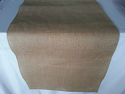 ArtOFabric Natural Burlap Table Runner 12 Inches X 72 Inches
