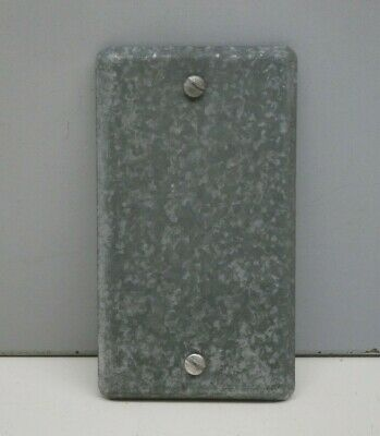 "Steel City 58-C-1 Steel Blank Cover Plate for Utility Outlet Box 2-1/8"" Wide"