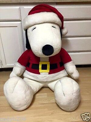 "RARE~GIANT 48"" tall Christmas SANTA~SNOOPY PLUSH~MINT cond.~RARE find~1999~MINT"