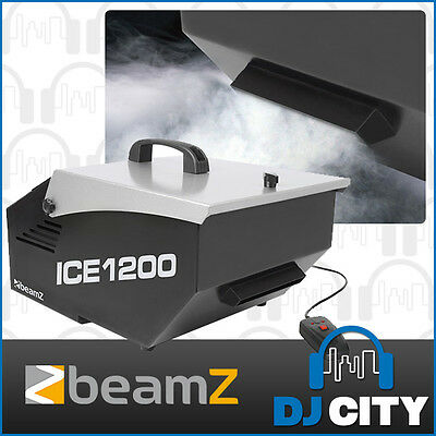Ice Fogger Machine 1200W Low Lying Fog Dry Ice Machine with 3m Wired Remote