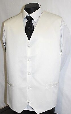 Ivory Wedding Vests for Big Men 9 xl by Mondoza® optional cravat available