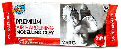 5 PCS x 250G Air Hardening Modelling Clay AIR DRY CLAY White Art Craft Supply