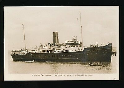 SHIPPING Channel Islands Weymouth Service GWR SS St Helier c1930s? RP PPC